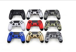 Wholesale Ps4 Consoles - For PlayStation 4 PS4 Wireless Bluetooth Game Controller Gamepad Golden Camouflage Joystick Game Pad Double Shock USB Controller Console