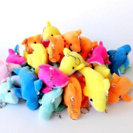 großhandel delphin spielzeug Rabatt Nette Mini Dolphin Plüschtier Puppe Anhänger Keychain Familie Party Anhänger Geschenk Dekoration Shop Feier Hochzeit Puppen Großhandel