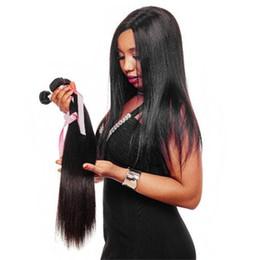 Extensiones de cabello teñido online-Paquetes de armadura del pelo recto de la Virgen india Extensiones de cabello humano indio de la Virgen 8-28Inch Color Natural del pelo no Remy puede ser teñido Envío gratis