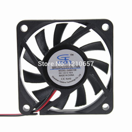 Wholesale Fan Flow - 1 PCS Axial Industrial Flow 60mm 6cm 60x60x10mm DC 12V 2Pin Ball Bearing Cooler Fan