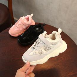 2019 sapatas pretas da patente das crianças Marca designer Crianças Sapatos Do Bebê Da Criança Correr Tênis Kanye West YZ 500 Tênis Infantis Infantis Meninos Meninas Sapatos