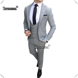 28bdced34f7 yiwumensa 2019 Latest Coat Pant Designs Suits Creamy beige Single Breasted Tuxedo  Slim Fit Men Suit 3 Piece Suit Mens Blazer dark green mens slim suit deals