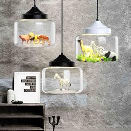 Animaux de verre modernes en Ligne-Lumières de pendentif led modernes verre intégré dans une variété de petits animaux panda tigre led pendentif lampe suspendue chambre lumineuse chambre d'enfants