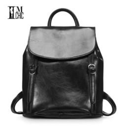 Wholesale Anti Thief Bag - Anti-thief Travel Bags Lux Split leather Women Backpacks Female Vintage Dailypack School Ladies Preppy Girl Backpack Rucksack