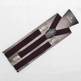Wholesale Men Suspenders Pants Wholesale - New Skinny Adjust Unisex Pants Y-back Suspender Brace Elastic mens Ladies Clip-on