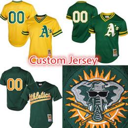 Wholesale oakland baseball jersey - Oakland 2 Davis 8 Lowrie 17 Alonso 21 Vogt 23 Joyce 25 Healy Jersey Retro Mesh Custom Baseball Jerseys Custom any name number