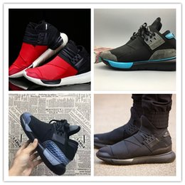 ce981463fa37a 2018 High Quality Y-3 QASA RACER red Vista Grey Sneakers Breathable Men and  Women Running Shoes Couples Y3 Outdoor Trainers Size 5-12 y3 qasa high for  sale