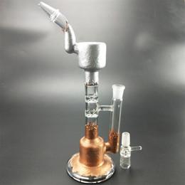 2019 borbulhador de vidro com filtro duplo Novo design bonger bonger e 27cm de alta curvo vidro bong cano de água, filtro estrela dupla, bubbler bolha, braçadeira de bolha, para fumar. desconto borbulhador de vidro com filtro duplo