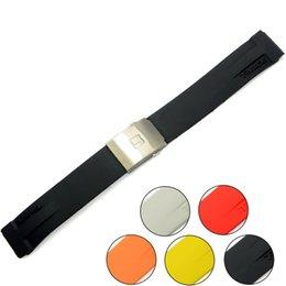 relógio de aço para mergulhadores Desconto Para Tissot Pulseira Mnn Preto Multicor Silicone Rubber Diver Watch Strap Banda com Aço Inoxidável Deployment Clasp para T048 20mm