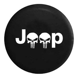 Wholesale Tire Skull - 30% OFF 14''15'' 16'' 17'' Black Skull Spare Wheel Tire Covers Case Protector Fit For Jeep Wrangler UV Resistant Waterproof