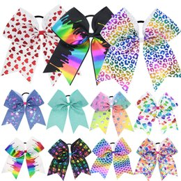 Wholesale Hair Accessories Combs Bands - New 30pcs lot Kids Baby Infant Girls Headband Big Bow Bandage Hair Band Colorful Unicorn Cheer Bow Hair Accessories Party Birthday Gifts