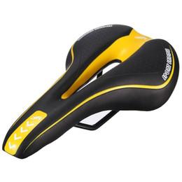 assento de bicicleta amarelo Desconto YAFEE Sela de bicicleta assento de bicicleta gel montar selim de bicicleta preto e amarelo