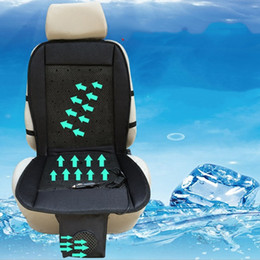 Wholesale cool car seat cushion - 12V 24V Cool Fan Car Seat Covers Universal Fit SUV sedans Chair Pad Cushion with Motor driving summer ventilation gray black