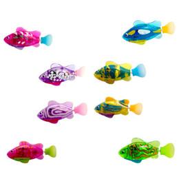 Красочный Свет Электрический Плавание Pet Fish Boy Ванна Игрушки Для Домашних Животных Аквариум Декор Волшебная Рыба-Клоун Бег Колебаться от