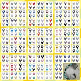 floral cotton layer Australia - 5set Cotton Double Layer Triangle Towel Baby Bib Infant Saliva Towel Cartoon Animal Bibs Bandana Burp Cloths Bebes YE037
