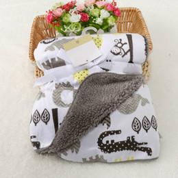 2019 cobertor de swaddle simples Cobertor do bebê Nova Marca Engrossar Camada Dupla Coral Fleece Swaddle Envoltório Infantil Envoltório Para Recém-nascidos Do Bebê Cama Cobertores Do Bebê