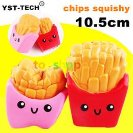 Chips de teléfonos celulares online-Slow Rising Cute Jumbo French Fries Squishy patatas fritas Descompresión antiestrés teléfono celular encantos de alta calidad