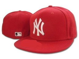 Wholesale Silver Baseball - Free Shipping New 2018 HOT NY Fitted Hats sports hats baseball hats for men and women High quality