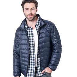cc0be7e3a20 Men Lightweight Down Jacket Packable Down Parka Puffer Jacket White Duck  Coat Ultra Light Winter Parka Coat Man Outerwear black men puffer jacket  parka ...