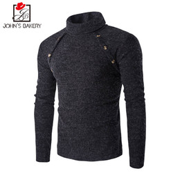 Wholesale Mens Thin Turtleneck - John'S Bakery Brand 2017 New Fashion Autumn Casual Sweater Turtleneck Striped Slim Fit Knitting Mens Sweaters Pullover M - X X L