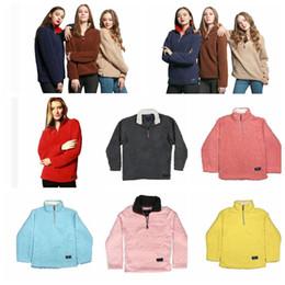 Wholesale Wholesale Running Jackets - Women Sherpa Pullover Winter Autumn Fleece Sweatshirt Oversized Jacket Solid Sports Casual Plush Sweatshirts Zipper Coats 13 color KKA3899