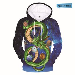 Мужские пальто kpop онлайн-Cute full printing DragonBall Z Hoodies For men Women Hip Hop streetwear Sweatshirt Kpop coat pullover sweatshirts