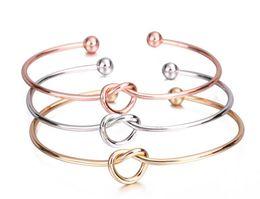 2019 braceletes baratos pulseiras Europa e nos Estados Unidos jóias simples pulseira de vento personalizado nó pulseira pulseira gravata pulseira para as mulheres meninas barato por atacado desconto braceletes baratos pulseiras