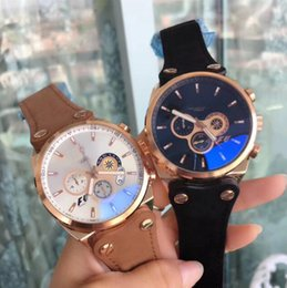 Wholesale Calibre Band - New 2018 Luxury Brand Tag Automatic Watch F1 Calibre 16 15 17 36 RS Men White Dial Stopwatch date leather strap Band Montre Homme AAA