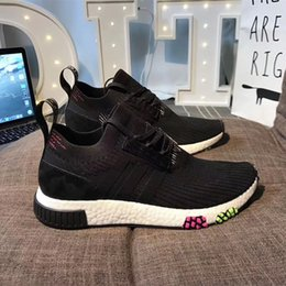 Wholesale golf r1 - 2018 Adidas New Arrival NMD_Racer Spring R3 NMD Racer Primeknit Consortium X JUICE Runner 3.0 Sneaker Women Men R1 Sport Shoes 36-45