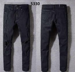 2019 nuevo diseño de moda de marca pantalón 2018 Nueva marca famosa hombres de los hombres diseño de moda rasgado motorista pantalones de gran calidad de gran tamaño venta caliente03 nuevo diseño de moda de marca pantalón baratos