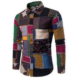 Wholesale Mens Blouse Shirts - MUQGEW mens business long sleeve shirts classic fit Slim Patchwork Men's Dress shirt lange Blouse Hot heren shirt lang mouw