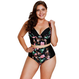 d59659195e plus cup size swimwear Coupons - Plus Size M-3XL Women Floral Tankinis  Triangle Cup