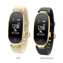 Wholesale ladies outdoor watches - Free Shipping S3 Bluetooth Smart Watch Fashion Women Ladies Heart Rate Monitor Fitness Tracker Smart watch for Android IOS