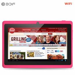 compresse wifi a buon mercato Sconti Android 4.4 Tablet PC Tablet PC economico e semplice da 7 pollici Google A33 Quad-Core Bluetooth WiFi Flash