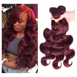 Cuerpo brasileño de pelo virgen Wave 3 paquetes Jet negro   miel rubio 27      Burgundy Red 99J Paquetes de armadura de cabello humano Extensiones de  cabello ... a2f27bd030fc