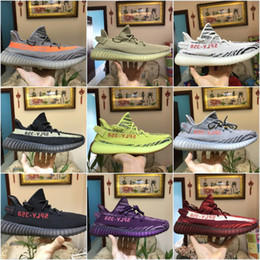 Wholesale Body Spikes - 2018 Kanye West Boost 350 V2 Zebra Orange Grey Black Red Purple Pink Beluga 2.0 Running Shoes Top Quality Sneakers Sports boots