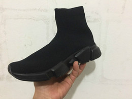 Wholesale Boots Cloth - Name Brand High Quality Unisex Casual Shoes Flat Fashion Socks Boots Woman New Slip-on Elastic Cloth Speed Trainer Runner Man Shoes us 5-13