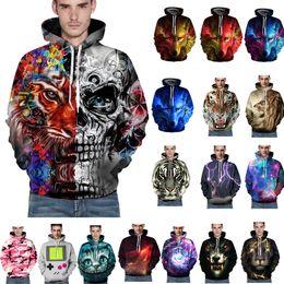 Wholesale 3d Linens - S-3XL 3D Print Men Hoodie Sweatshirt Jacket Coat Pullover Jumper Pattern Graphic Hooded Tops