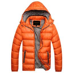 mode hauben männer Rabatt Herbst Winter Jacke Männer Mantel Oberbekleidung Fashion Hood Padded gesteppte warme männliche Jacken Parka mit Kapuze Casual Wadde