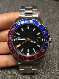 Wholesale Ceramic Ring Stainless Steel - Fashion brand latest male watches, sapphire glass, perfect GM and T time display, ceramic ring