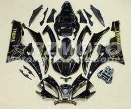 Wholesale Yzf R6 Fairings Black Gold - New Injection ABS Fairings For Yamaha YZF600 R6 Year 06 07 2006 2007 ABS Plastics Motorcycle Fairing Kit Bodywork Cowling black gold