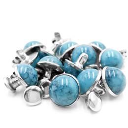 Canada Rivets Goujons Bleu Turquoise Rapide pour Cuir-Artisanat Sac Chaussures Bracelet Tandy En Cuir 8 MM 10 MM 100 pcs Offre