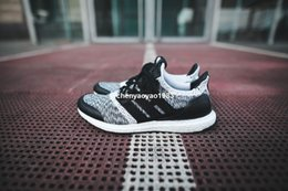 Wholesale Social Shoes - Ultra Boost 3.0 Sneakernstuff x Social Status Primeknit Men's Running Shoes Women Top Quality UltraBoost 3.0 Triple Black White Shoes 36-45