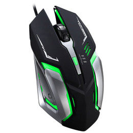 Wholesale Led Backlit Computer - High Quality USB Wired Optical Gaming Mouse Mice 1600DPI Adjustable with Colorful LED backlit for PC Computer Office User