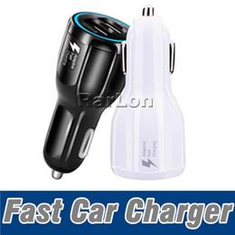 caricatore universale 12v per auto Sconti Ad alta velocità 9V 2A 12V 1.2A QC3.0 Adattatore di ricarica rapida per auto Caricabatteria per ricarica rapida USB 2.0 completamente doppio
