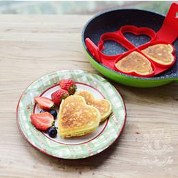 anelli di cottura Sconti 4 disegni Pancakes in silicone Stampi per anelli per uova Creatore fantastico Antiaderenti per uso domestico Frittate Stampi da cucina per cuocere