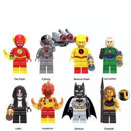 Wholesale Hero Toys - Super Hero Cheetah Figure Reverse Flash Lex Luthor Cyborg Lobo Firestorm Building Blocks Bricks Toys Novelty Items OOA5078