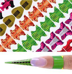 2019 werkzeug kite 100 Stücke Klebstoff Nagel Form für UV Gel Nagelverlängerung Blume Kite Oval Quadratische Form Nail art Werkzeug DIY Tipps Maniküre Kits günstig werkzeug kite