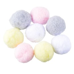 Wholesale Wedding Pompoms - Wholesale-Hoomall 100PCs Multicolor Pompoms Ball Fur Craft DIY Soft Pom Poms Wedding Home Decoration Sewing On Cloth Accessories Round 3cm