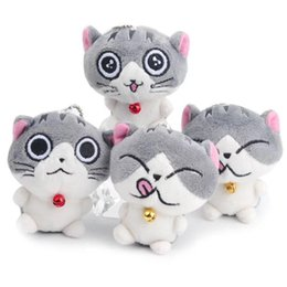 Wholesale plush cats - Cat Meow Collection cute Cheese cat Plush toys cartoon cat Stuffed Animals 8cm 3 inches for children Christmas gift pendant key chain MMA331